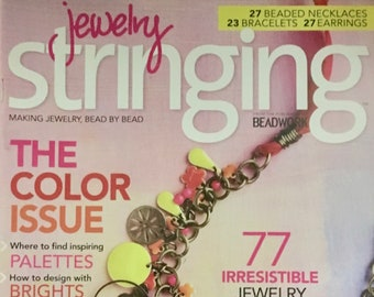 Stringing Magazine The Color Issue Where to Find Inspiring Palettes Jewelry Photo Tips Coachella Chic 77 Irresistible Ideas Spring 2013