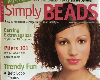 Simply Beads Magazine Earring Extravaganza Trendy Fun Belt Loop Chains Coil Necklace Spring Jewelry April 2005