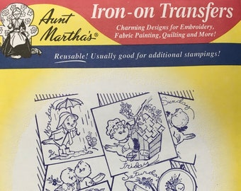 Birds of a Feather Aunt Marthas Hot Iron Transfers Embroidery Fabric Painting Quilting Needlepoint Crafts 3747 Made in the USA