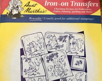 Sassy Squirrel - Aunt Marthas Hot Iron Transfers for Embroidery Fabric Painting Quilting Needlepoint Crafts 3750 Made in the USA