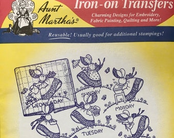Gay Colonial Miss - Aunt Marthas Hot Iron Transfers Embroidery Fabric Painting Quilting Needlepoint Crafts 3216 Made in the USA