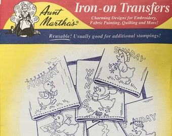 Dottie the Duck - Aunt Marthas Hot Iron Transfers Embroidery Fabric Painting Quilting Needlepoint Crafts 3400 Made in the USA