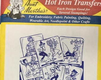 Hillbilly Doings Aunt Marthas Hot Iron Transfers Embroidery Fabric Painting Quilting Needlepoint Crafts 3761 Made in the USA