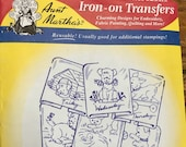 Puppy Fun - Aunt Marthas Hot Iron Transfers for Embroidery Fabric Painting Quilting Needlepoint Crafts 3748 Made in the USA