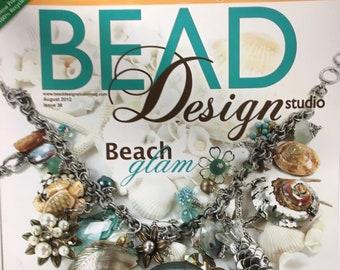 Bead Design Studio Magazine Beach Glam Fused Chain beaded Collar Metal Clay Abalone August 2012