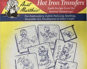 Kitten Motifs - Aunt Marthas Hot Iron Transfers for Embroidery Fabric Painting Quilting Needlepoint Crafts 3733 Made in the USA