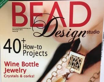 Bead Design Studio Magazine 40 Projects Wine Bottle Jewelry Crystals Bead Weaving December 2012