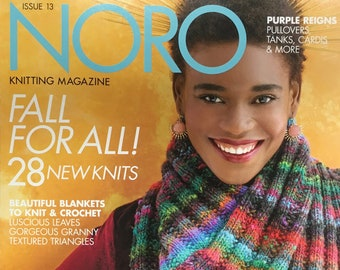 Noro Knitting Magazine Fall for All 28 New Knits One Skein Projects Blankets Wraps Knit Crochet Issue 13