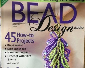 Bead Design Studio Magazine 45 Projects Glass Copper Crochet Wire October 2012