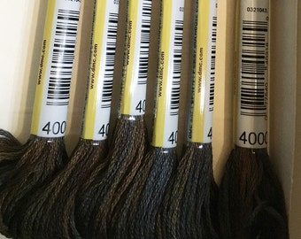 DMC 4000 Espresso Color Variations Embroidery Floss 1 Skein 6 Strand Thread for Embroidery Cross Stitch Needlepoint Sewing Beading