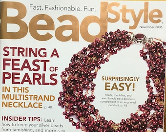 Bead Style Magazine String a Feast of Pearls Multistrand Necklace Bonus Gift Guide November 2006