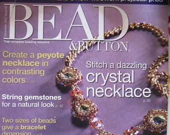 Bead and Button Magazine 5 New Wirework Projects Gemstones Peyote Necklace Chain Mail December 2007 Issue