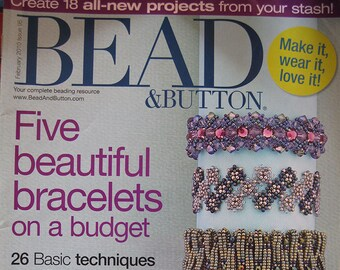 Bead and Button Magazine Five Beautiful Bracelets on a Budget February 2010 Issue