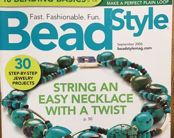 Bead Style Magazine String an Easy Twist Necklace Bracelets for Fall Enamel Earrings Asymmetrical Jewelry Turquoise Nuggets September 2006