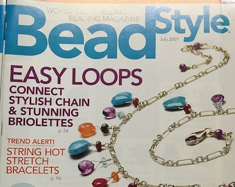 Bead Style Magazine Free Gemstone Poster Easy Loops Connect Chain Stretch Bracelets Lockets Briolettes and Rondelles July 2007