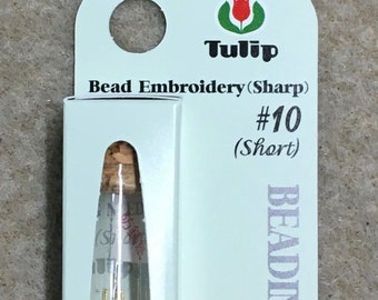 Tulip Beading Needles Size 10 Short for Beading Bead Embroidery 4 needles