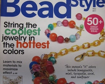 ON SALE Bead Style Magazine Try Something New 6 Great Projects from Bead & Button Show Teachers May 2011 issue