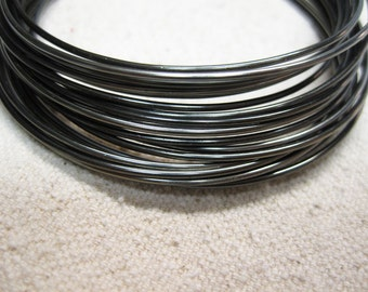 wir0100 wire wrapping Tarnish Resistant 24 gauge GUNMETAL HEMATITE CRAFT WIRE