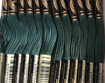 DMC 501 Dark Blue Green Embroidery Floss 2 Skeins 6 Strand Thread for Embroidery Cross Stitch Needlepoint Sewing Beading
