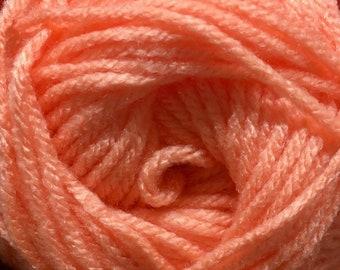 Peach Pink Cascade Anthem Yarn 186 yards 100% Acrylic Color 48