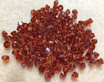 Crystal Red Magma 5328 Bicone Swarovski Crystal Beads 4mm