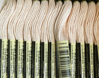 DMC 948 Very Light Peach Embroidery Floss 2 Skeins 6 Strand Thread for Embroidery Cross Stitch Needlepoint Sewing Beading