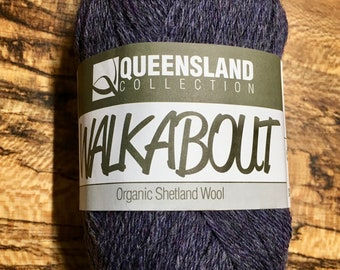 Cloudberry Walkabout Organic Shetland Wool by Queensland Collection Sport Weight Certified Organic 157 yards Color 19