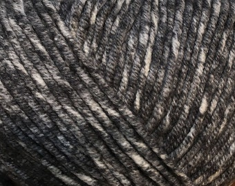 Clearance Anthracite Dark Grey Cascade Sarasota Cotton and Acrylic Yarn 100 grams 314 yards color 11