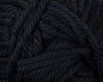 Cherub Super Bulky Incredibly Soft Black Cascade Yarn 131 yards Acrylic Nylon Blend Color 40