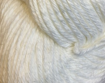 Clearance White Cascade Hampton Pima Cotton and Linen DK Weight Yarn 273 yards color 03 Last One
