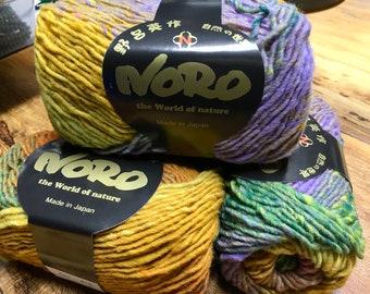 Yellows Purples Greens Pinks Multi Noro Kureyon Sundance 110 yards 100% Wool color 415