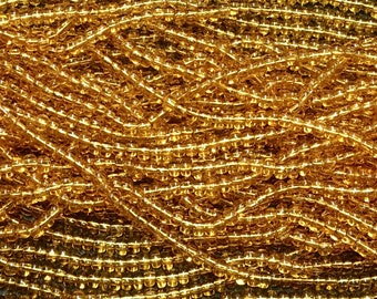 1/0 Topaz Transparent Large Hole Czech Glass Seed Beads Big Seeds One Strand