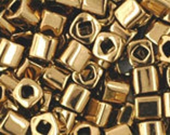 Bronze 3mm Toho Cube Beads 2.5 inch Tube 8 grams TC-03-221