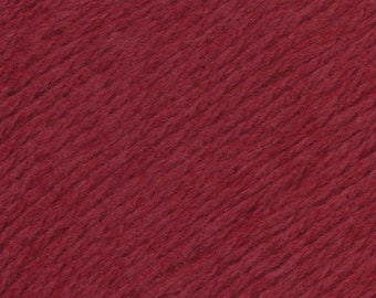 Rosehip Red United Lambswool Cotton by Queensland Collection Sport Weight Certified Organic 251 yards