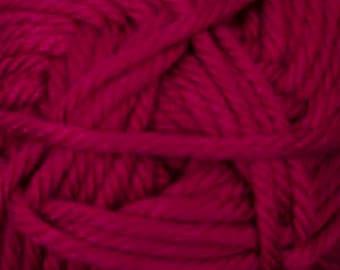 Cherub Super Bulky Incredibly Soft Ruby Red Cascade Yarn 131 yards Acrylic Nylon Blend Color 25