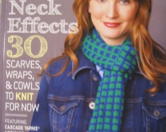 25% OFF Neck Effects 30 Scarves Wraps and Cowls to Knit for Now Featuring Cascade Heritage Yarns