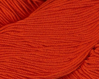 Egyptian Cotton Phoenix DK Ella Rae Yarn DK Weight 273 yards 100% Egyptian Cotton Yarn #1047 Goldfish Orange