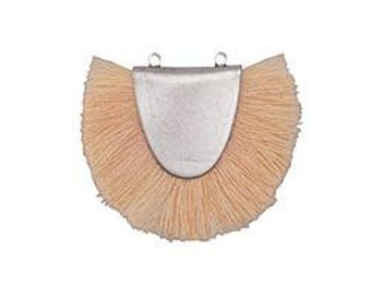 Apricot Fringed Focal Pendant Link 31x25-29mm Antique Silver Finish 1 pendant F223A