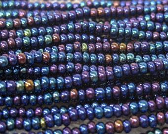 11/0 Blue Iris Genuine Czech Glass Seed Beads Preciosa Rocaille Seed Beads 17.7 grams