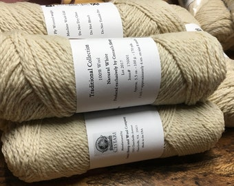 Clearance Cestari Natural White Traditional Collection 100% Wool 2 ply Worsted Weight 170 yards Pull Skein Made in the USA