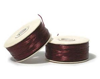 Nymo Beading Thread Burgundy Size D 64 yards 1 Spool