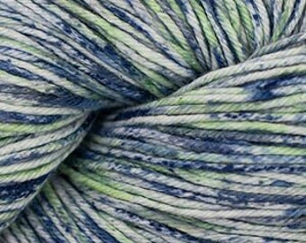 Seattle Blue Green Cascade Nifty Cotton Splash Variegated Worsted Weight 100% Cotton 185 yards