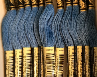 DMC 806 Dark Peacock Blue Embroidery Floss 2 Skeins 6 Strand Thread for Embroidery Cross Stitch Needlepoint Sewing Beading
