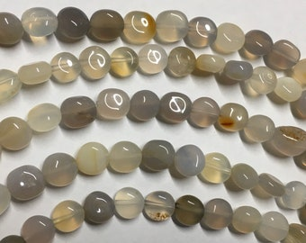 Gray Chalcedony Nuggets About 6mm to 8mm Gemstone Beads Approx 21 pcs per 8 inch strand
