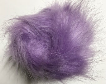 Extra Large Imitation Fur Faux Purple Fur Pom Pom Ball with Loop for Craft Projects Hat Decoration Knitting Crochet 127mm 5 inches