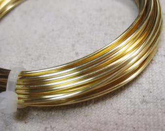 16 gauge Non Tarnish Gold Copper Craft Wire Made in the USA 5 yards