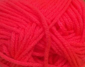 Neon Guava Cascade Anthem Yarn 186 yards 100% Acrylic Color 62
