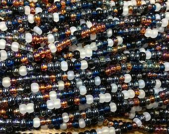 6/0 Pebblestone Mix Genuine Czech Glass Preciosa Rocaille Seed Beads 6 Strand Half Hank 68 grams
