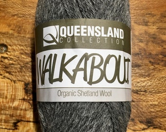 Grey Flannel Walkabout Organic Shetland Wool by Queensland Collection Sport Weight Certified Organic 157 yards Color 04