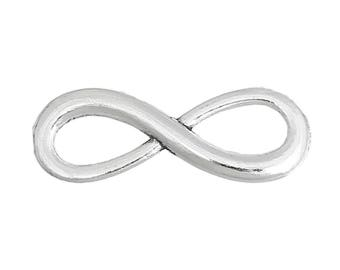 Infinity Symbol Connectors Antique Silver F483